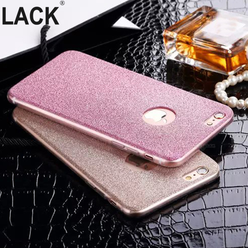 i6 6S UltraThin Glitter Bling Back Skin Cover for iPhone Crystal Soft Gel TPU Case for