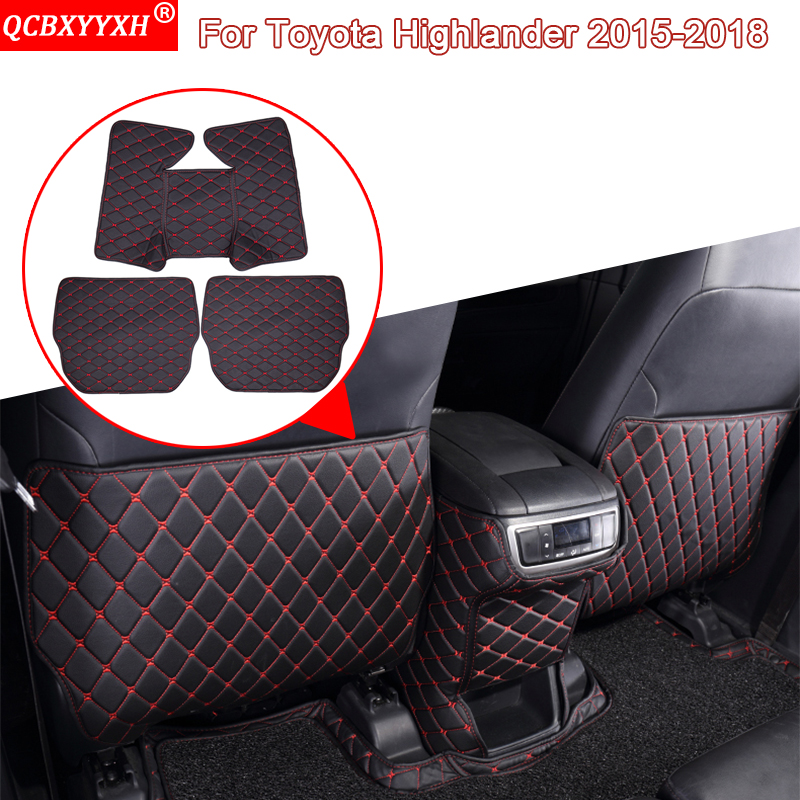 QCBXYYXH Car Styling Auto Interior Seat Protector Side Edge Protection Pad Sticker Anti-kick Mat For Toyota Highlander 2015-2018