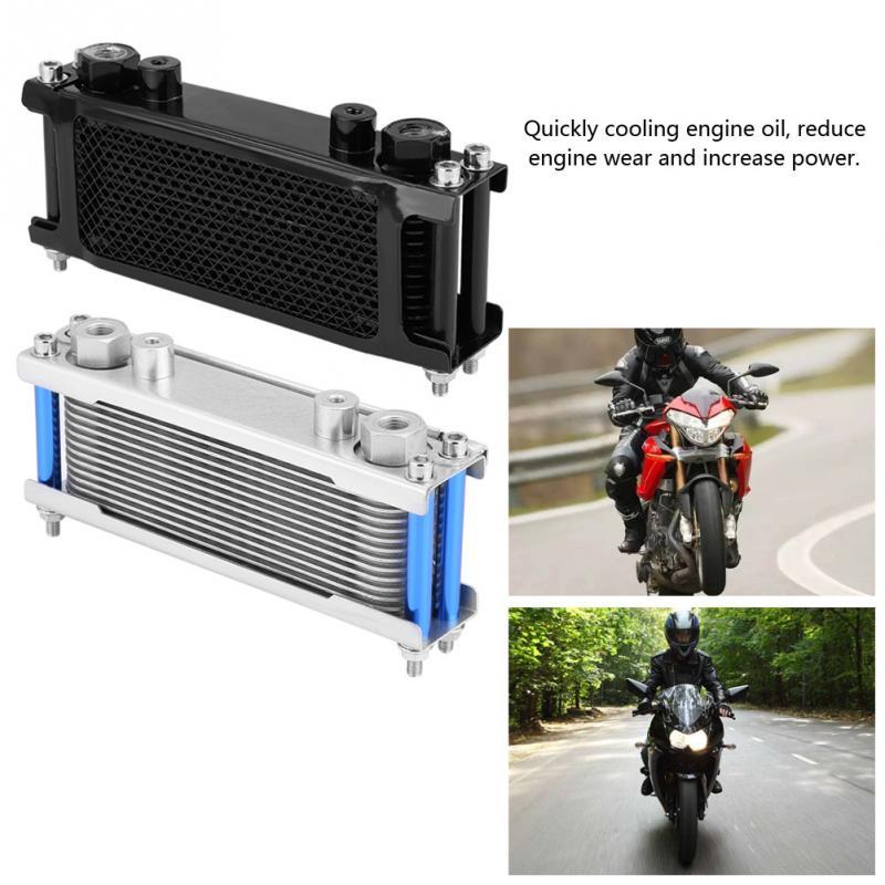 Motorcycle Engine Oil Cooler Cooling Radiator 50CC 200CC Universal Aluminum