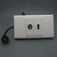 120 X 70 HDMI USB With Short Cable Wall Plate