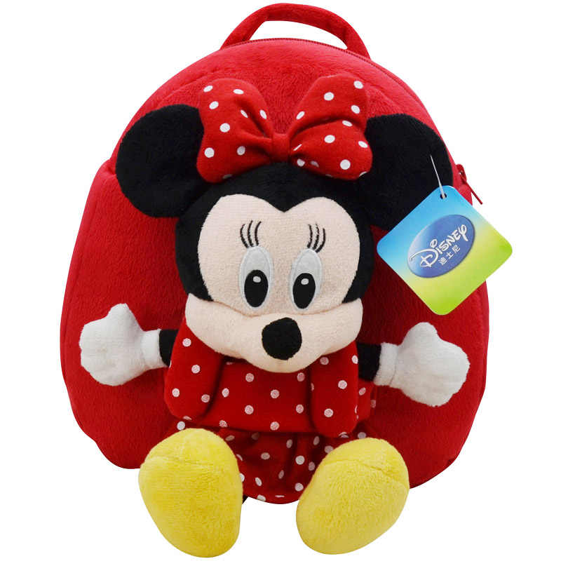 Рюкзак disney школьная сумка плюшевая игрушка Винни Пух Микки Маус Минни кукла подарок на день рождения для детей