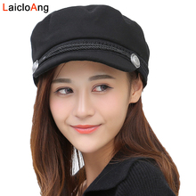 Warm Beret Women 2018 Autumn Winter Cute Fashion Flat Cap Take A Female Cotton Black Hat Girls Teenagers