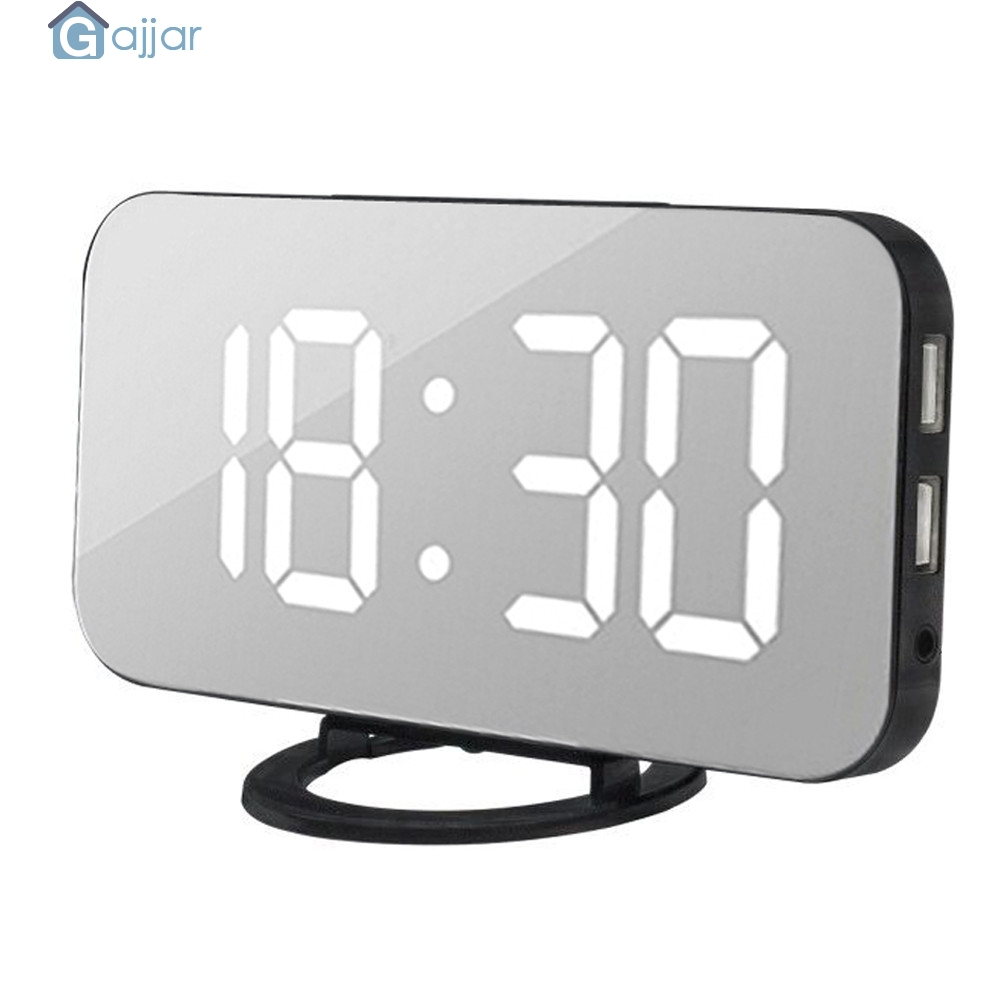 2019 Modern Digital LED Table Desk Night Wall Clock Alarm Watch 24 Or 12 Hour Colorful Numbers Display 18Oct25