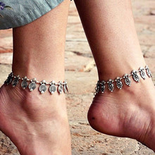 Vintage Anklets For Women Ethnic Spiral Charm Bohemian Ankle Bracelet Cheville Barefoot Sandals Beach Jewelry