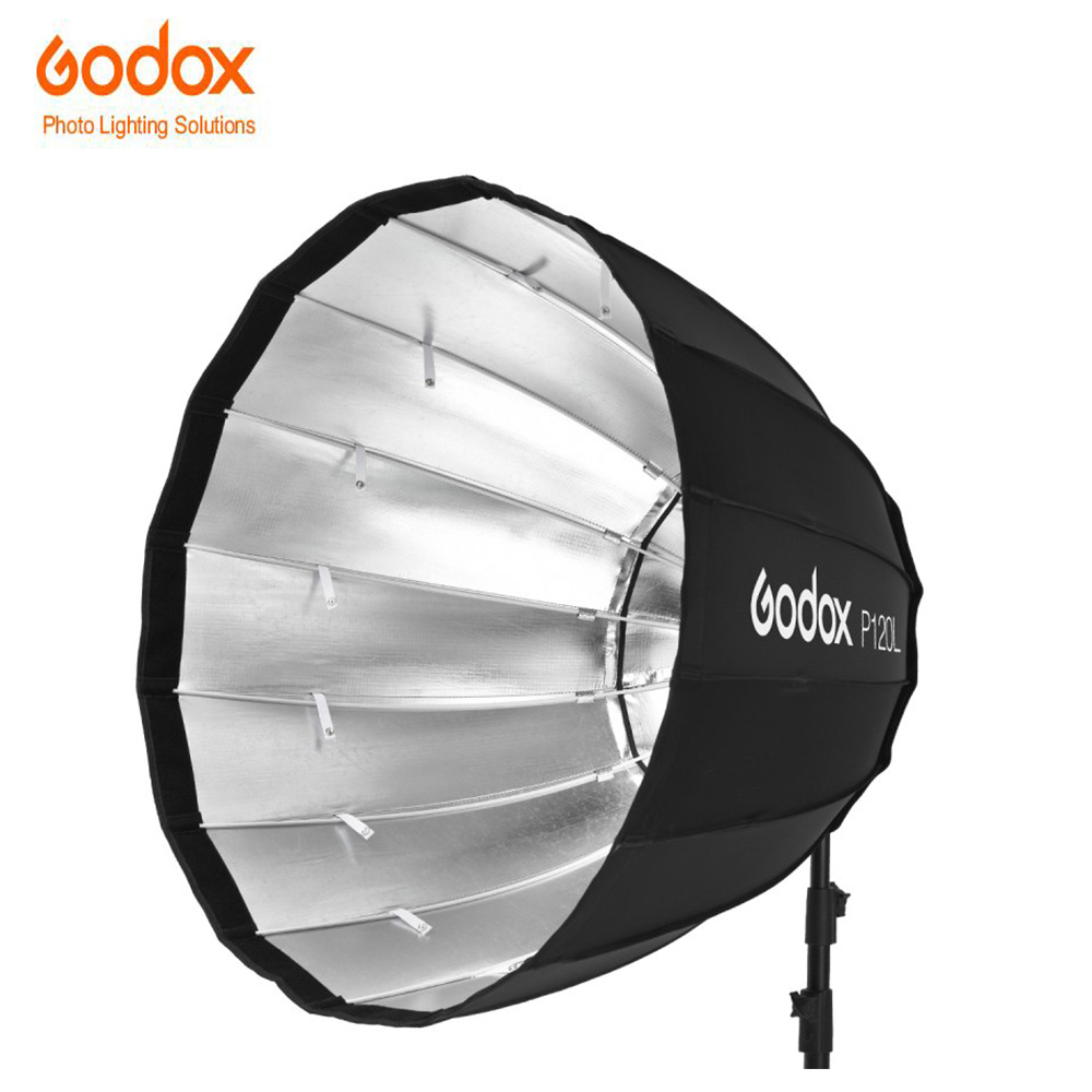 Godox NEW P120L 120CM deep parabolic Softbox with Bowens Mount for 120D 120t Godox AD600B AD600BM Flash