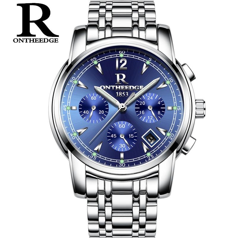 Luxury Luminous Waterproof Mens Watch Fashion For Men Quartz Man Watches Stainless Steel
