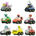 8pcs russian cartoon puppy dog dogs patrol car toy figurines model Patrulla kanina juguetes kids gift