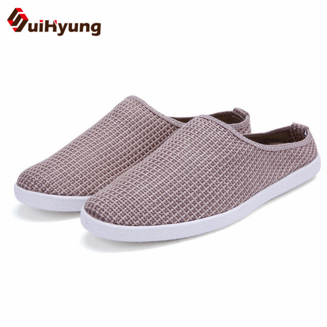 New plus size 39-46 Men Sandals Summer Breathable Air Mesh men lighted slippers outdoor Beach mens Shoes Leisure Slippers pictures AGHeD6SOnC
