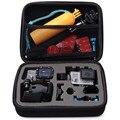 Tamanho médio para Gopro HD Herói 4 3 + 2 3 SJ4000 Acessórios Da Câmera de Esportes Ao Ar Livre À Prova de Choque Protecção De Armazenamento Sacos caixa