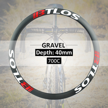 road 40mm depth 29mm width carbon hoops gravel rims - GX40 wheels