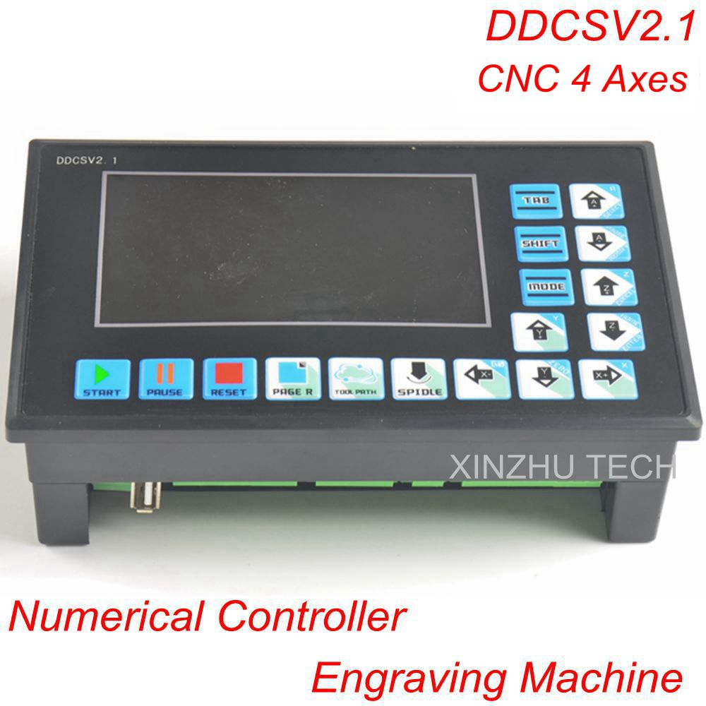 Numerical Controller Engraving Machine DDCSV2.1 500KHz CNC4 Axis CNC System Step Servo Replace NC Studio MACH3 Offline Controll