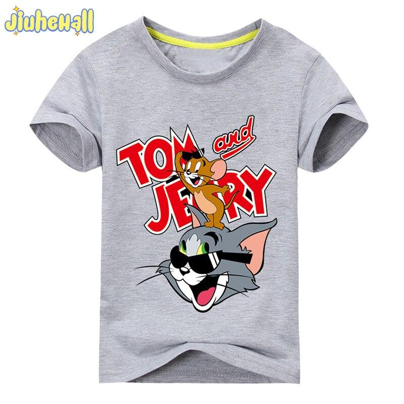 6d2c41048 2017 Bebé de la Historieta Del Ratón Del Gato Impresión de La Camiseta Para  la Muchacha