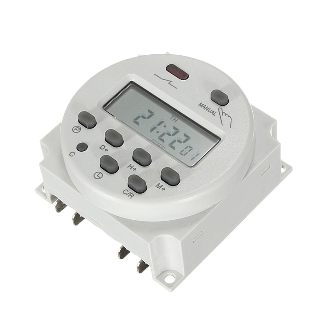Mini AC 12V 220V Digital LCD Power Timer Programmable Time Switch Relay Timers digital lcd power timer programmable 7 5va time switch relay 16a timers cn101a timer ac 220v