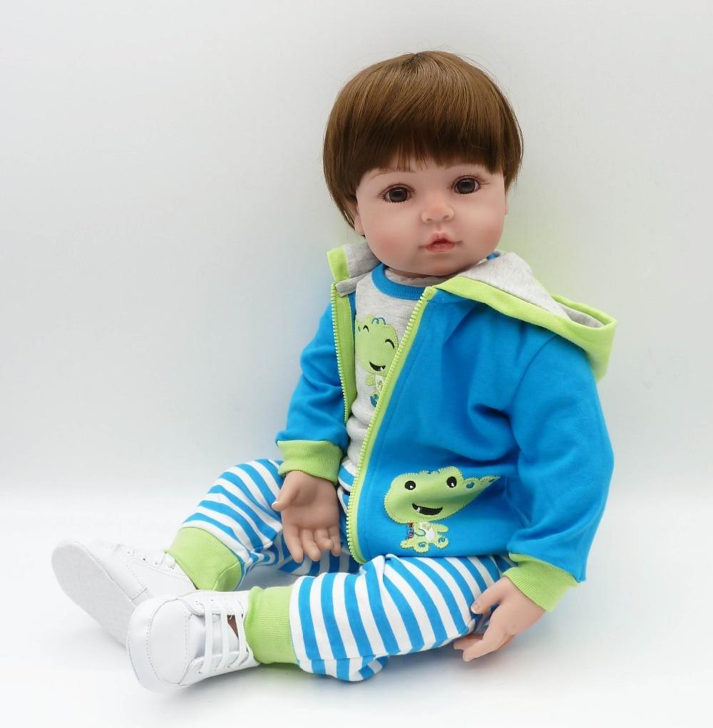 Image 2 - Babies reborn doll 47 cm new handmade silicone reborn baby Lifelike adorable boy Bonecas girl kid silicone menol lol doll-in Dolls from Toys & Hobbies