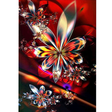 5D DIY Full Drill Round Diamond Embroidery Colorful Abstract Flower Pattern Diamond Painting Mosaic Cross Stitch Wall Stickers full drill round diamond painting 5d diy diamond abstract beauty pattern embroidery mosaic stickers cross stitch decorative