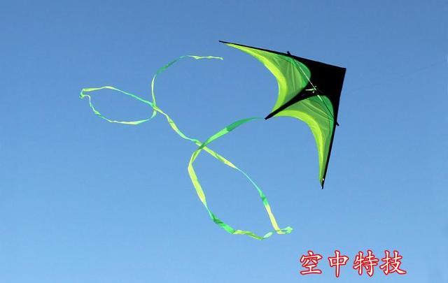 New hi-q 2 m poder hengda kite-para crianças e adultos! guarda-chuva pano prairie/triângulo verde pipa com fita longa boa voador