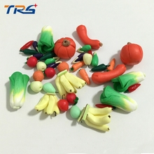 50pcs/lot scale model artificial kits simulation fruit  vegetables didactical doll