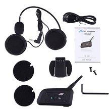 V6-1200 Multi Interphone Motorcycle Intercom Wireless Headphone Accessories 1200M Helmet Headset 6 Riders