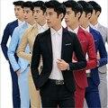 Hombres de la manera blazers 2017 Otoño Trajes Casuales Masculino Abrigo de un Botón de estilo coreano de los hombres de la chaqueta blazers Envío gratis