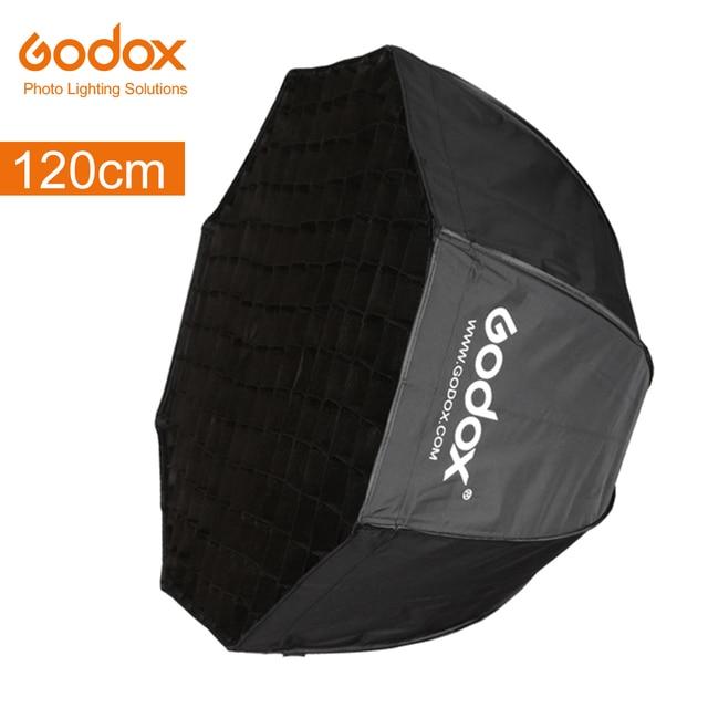 "Godox Draagbare 120 cm 47 ""Octagon Umbrella Softbox met Honingraat Foto Reflector Honingraat Softbox voor Flash Speedlight"