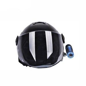 Image 4 - Kask yan sabitleme kıskacı tutucu Gopro Sony Sjcam ve Garmin eylem kamera 360 derece ayarlanabilir snowboard Skydiving