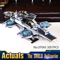 Helicarrier LEPIN 07043 3057 Unids Superhero The SHIELD Kit de Construcción Modelo de Iron Man Bloques Ladrillo Regalo Compatible 76042
