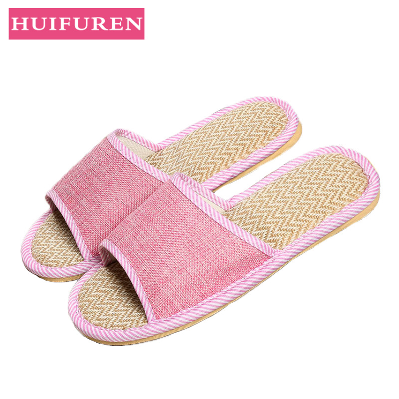 Women Indoor Slippers 2019 Spring Summer Flat Shoes Woman Flax Home Slipper Breathable Non-slip Lovers Bedroom Slip On Slides Women Indoor Slippers 2019 Spring Summer Flat Shoes Woman Flax Home Slipper Breathable Non-slip Lovers Bedroom Slip On Slides