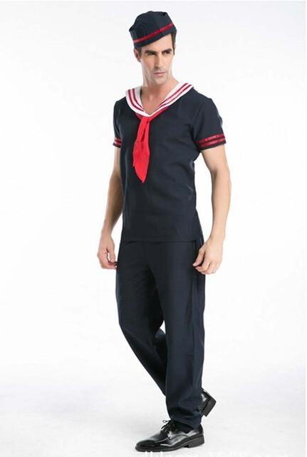 2017 menu0027s sailor costume Navy Sailor Mens Military Fancy Dress Naval Uniform Adults Costume Outfit  sc 1 st  AliExpress.com & 2017 menu0027s sailor costume Navy Sailor Mens Military Fancy Dress ...