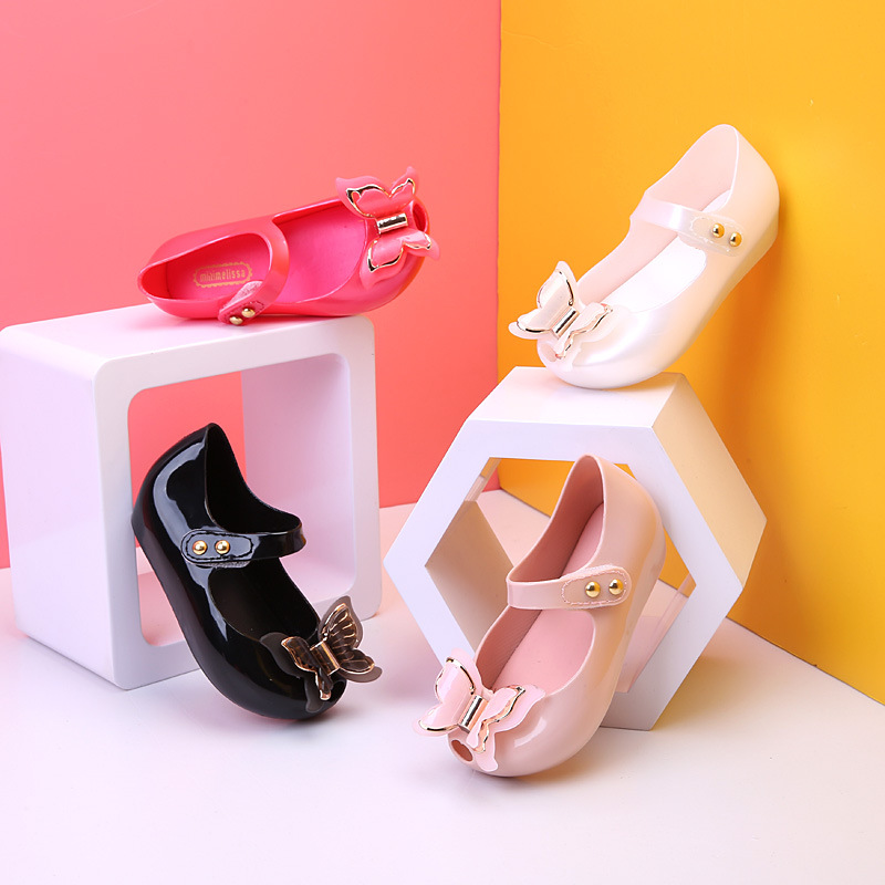 13 18CM Princess Sandals Mini Melissa Jelly Girls Sandals Shoes Three Big Bows Baby Girl Sandals