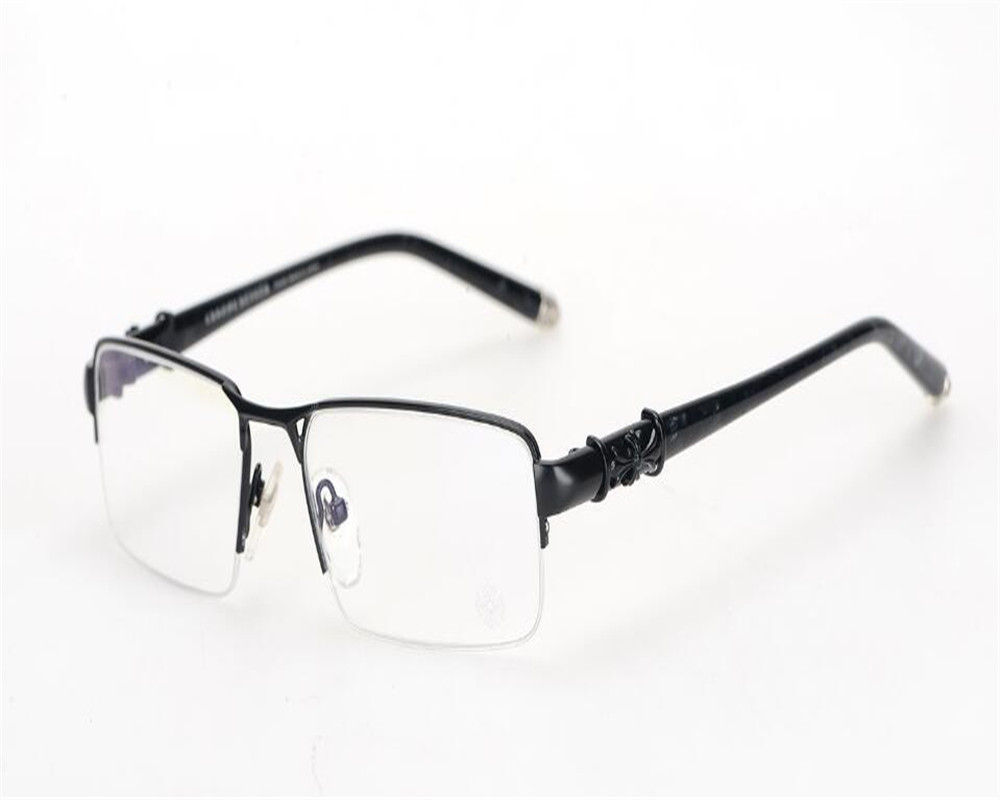 Apparel Accessories Super Light Fashion Brand Design Half Rim Alloy Optical Eyewear Clear Lens Gold Silver Spectacle Reading Glasses Frame Mc879