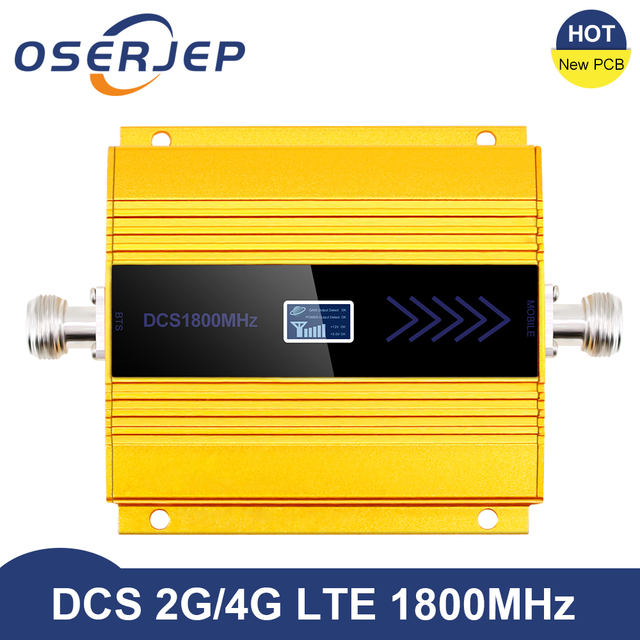 New PCB 4g Lte 1800 MHZ Booster LCD GSM Amplificador GSM 2g 4g Booster DCS 1800 Booster Mobile Phone Signal Amplifier Repeater