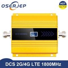 Yeni PCB 4g Lte 1800 MHZ güçlendirici LCD GSM Amplificador GSM 2g 4g güçlendirici DCS 1800 güçlendirici cep telefonu sinyal amplifikatörü tekrarlayıcı