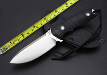 New Arrival PQ037 Fixed Knives Straight Outdoor Survival D2 Blade G10 Handle Hunting Knife Camping Knife.