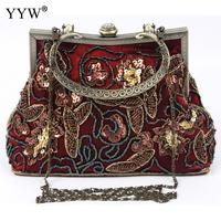 Vintage Beading Tote Bag For Women Sequined Crossbody Bag With Rhinestone Brand Luxury Women S Velour