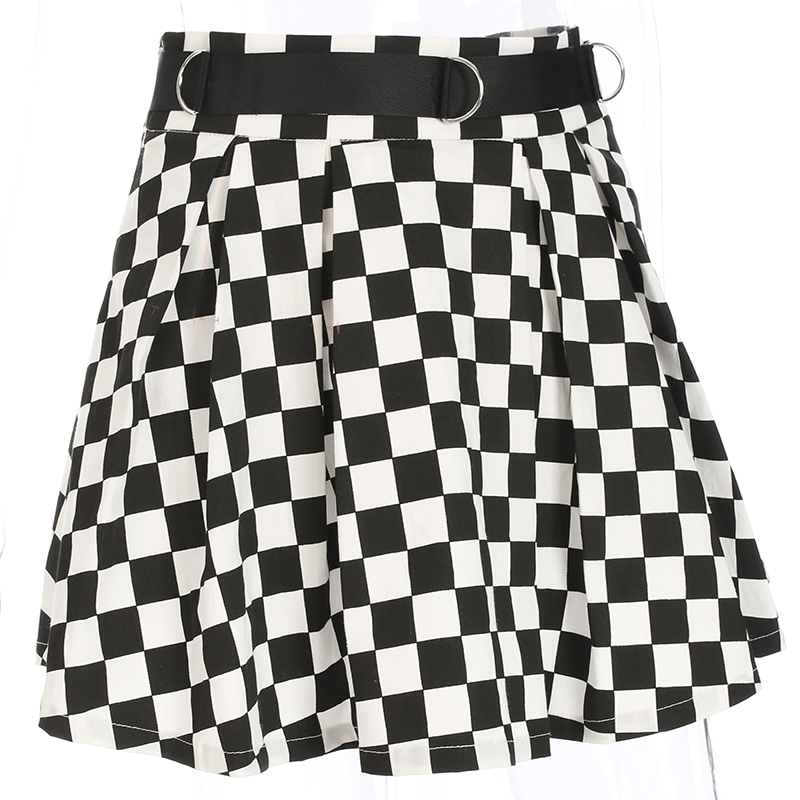 Disweet Pleated Plaid Skirts Womens High Waisted Checkered Skirt Harajuku Dancing Korean Style Sweat Short Mini Skirts Female 11