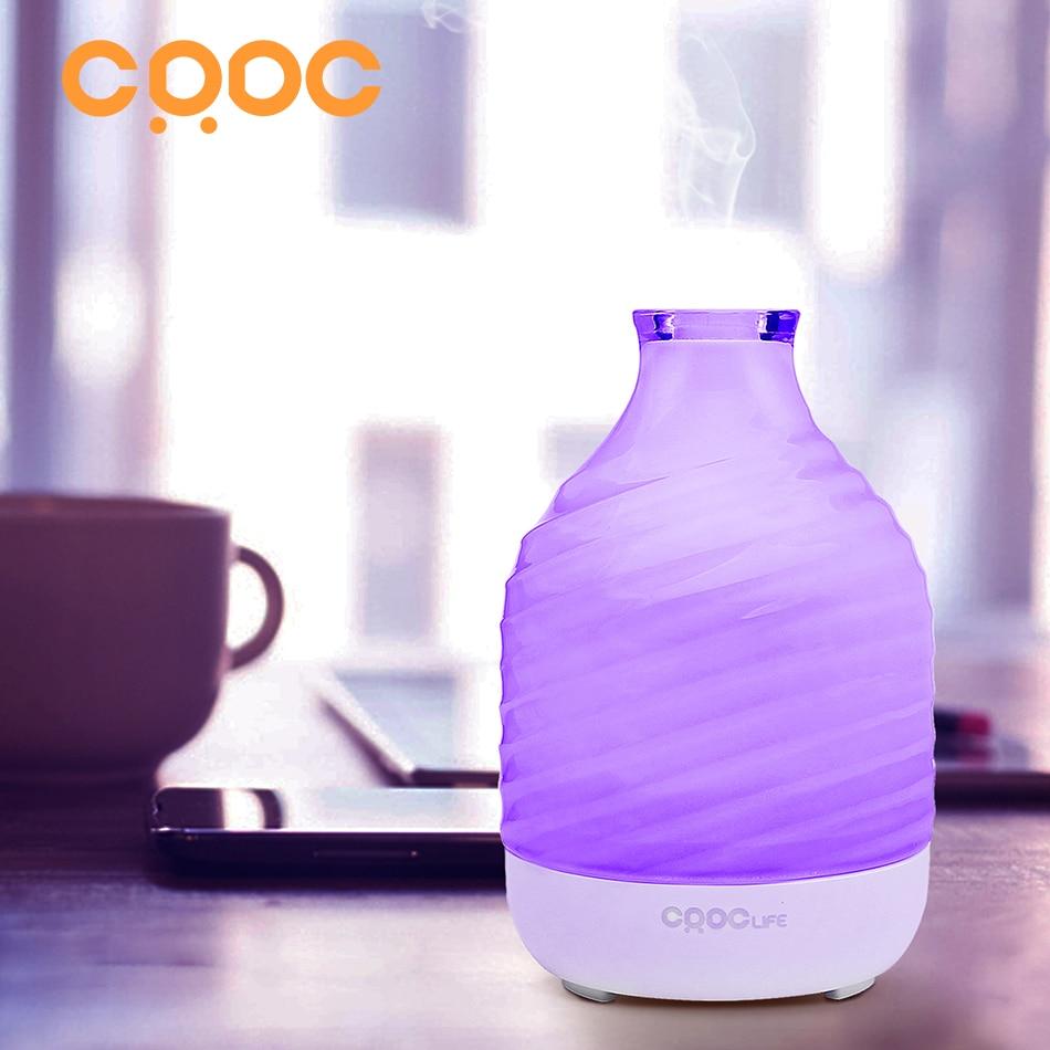 CRDC 200 ml Cam Hava Nemlendirici Esansiyel Yağı Difüzör Ultrasonik Aroma Difüzör Nemlendirici Serin Mist Maker Ev & Ofis için