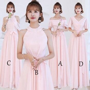 3e6d0dc3da81 Mingli Tengda Simple de un hombro vestidos de dama de honor 2018 vestido  elegante de las mujeres ...