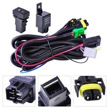 Dwcx жгута проводов розетки провода + переключатель для H11 Туман лампа для Ford Focus 2008-2014 Acura TSX 11-14 Nissan Cube 2009-2015