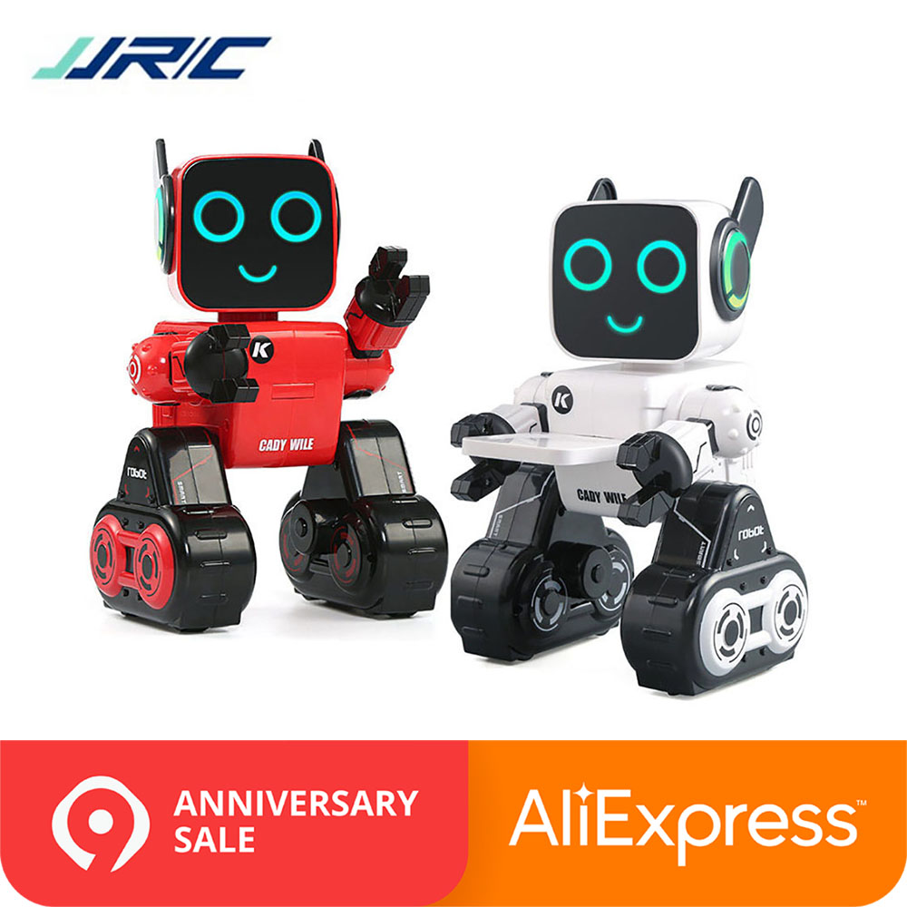 In Stock JJRC R4 RC Robot Intelligent Toys Cady Wile Gesture Remotol Control Action Figure Smart Robots Interactive Toy VS R2 R3