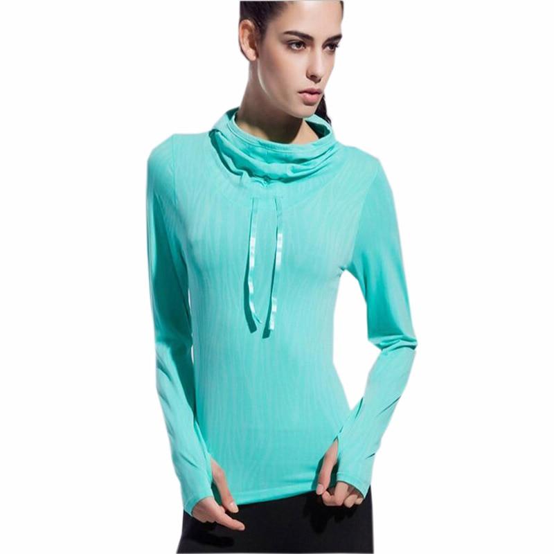 Dámské jóga košile Rychlé suché hoodie Jóga Top Ropa Deportiva - Sportovní oblečení a doplňky