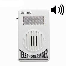 AMPLIFICADOR DE anillo de teléfono con timbre Extra fuerte, 95dB, ayuda a la campana estroboscópica, sonido fijo