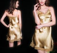 100% Pure Silk Chemise Nightgown Nightdress Sleepwear adjustable Straps YM010