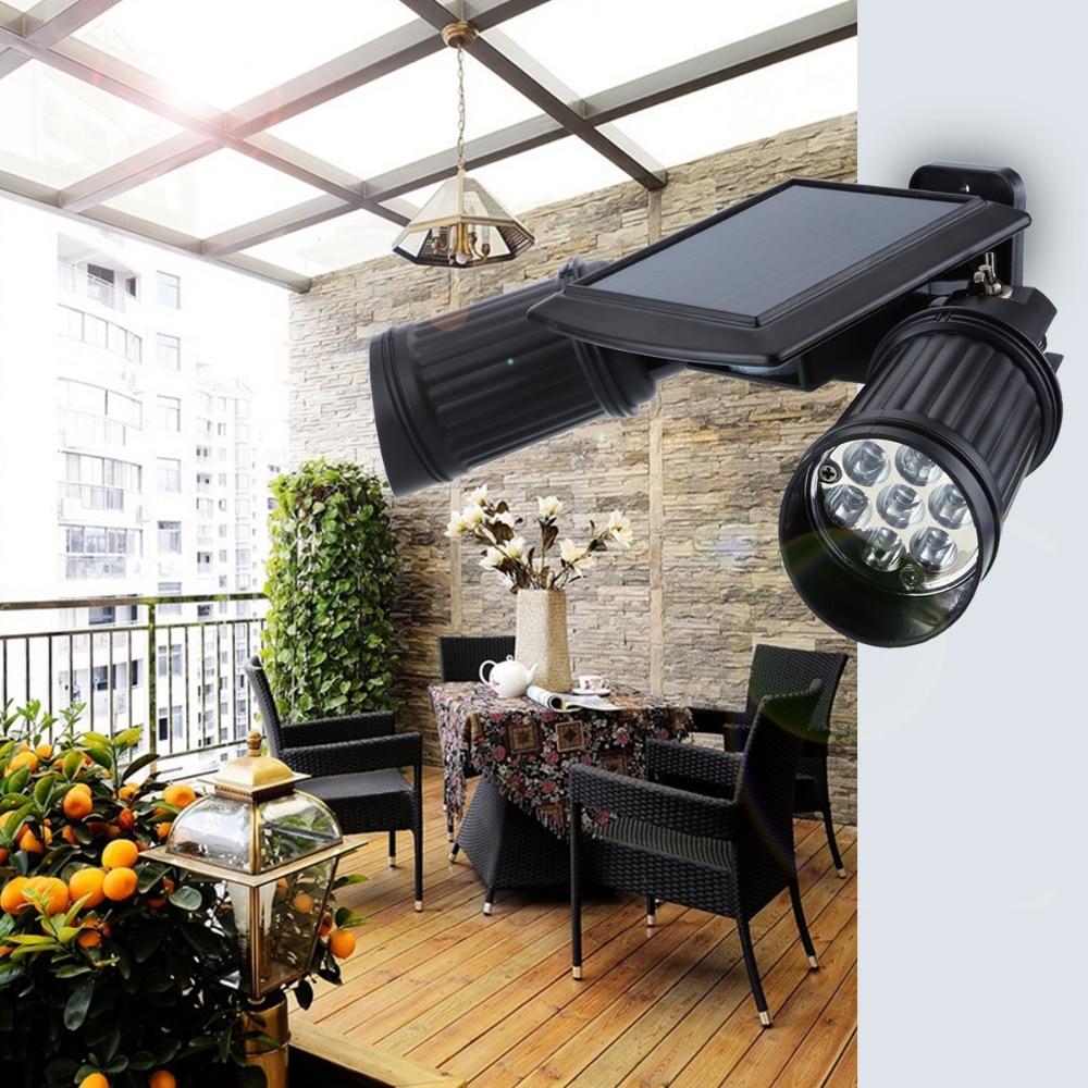 High Brightness Solar Power 14 LED PID Motion Sensor Wall Lamp Dual Head Spotlight Outdoor Adjustable Waterproof Wall Light ds 360 solar sensor led light black