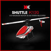 WLtoys RC Helicopters XK K120 2.4G 6CH 3D / 6G System Flybarless Brushless Motor Ready to Fly Remote Control Toys VS V966 V977