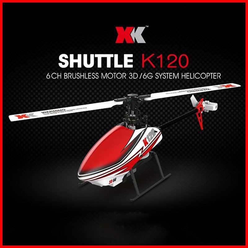 WLtoys RC Helicópteros K120 XK 2.4G 6CH 3D/6G Sistema Flybarless Brushless Pronto para Voar Controle Remoto brinquedos de controle VS V966 V977