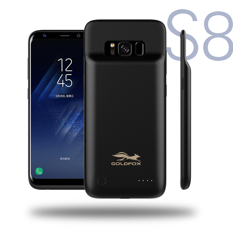 4000mah external battery charger case cover for samsung galaxy s8 battery charging case. Black Bedroom Furniture Sets. Home Design Ideas