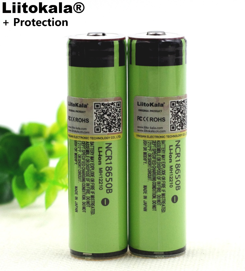 Liitokala New Protected Original Rechargeable battery 18650 NCR18650B 3400mah with PCB 3.7V For Panasonic Flashlight batteries 2pcs varicore 100% new original 18650 ncr18650b 3400mah 3 7v li ion rechargeable battery for panasonic flashlight power bank use