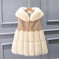 SMFOLW 2018 Arrival Winter Warm Fashion Women Import Coat Fur Vest High Grade Faux Fur Coat Fox Fur Long Vest Plus Size: S 10XL