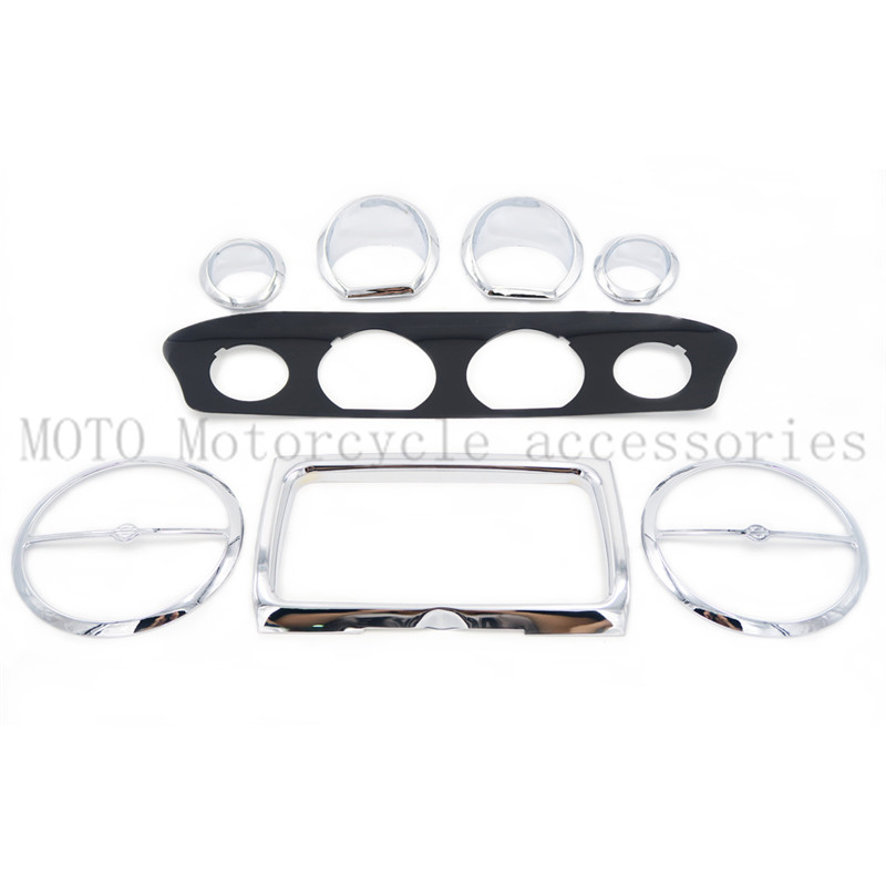 Motorcycle Stereo Accent Stereo speedometer Gauge plate Trim Kit For Harley Electra Glide 2014-2015 2016 Up