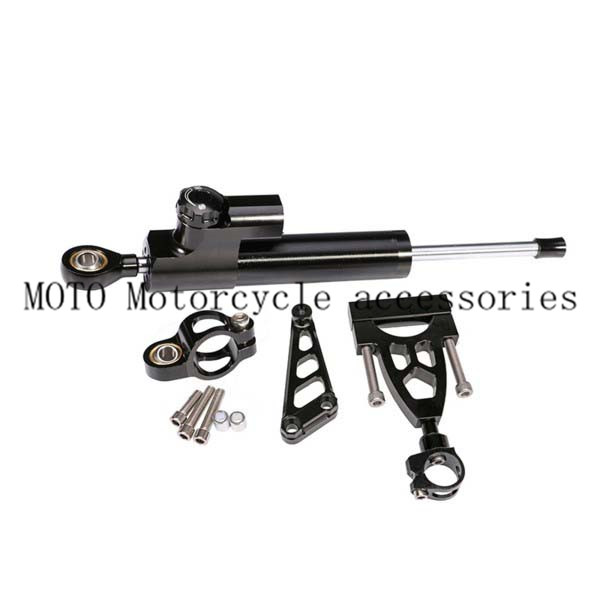 Motorcycle Steering Damper Complete Set Aluminum CNC Bracket kits for HONDA CB400 VTEC 1999-2006 2007 2008 2009 2010 2011 2012 motorcycle anti crash device guards front protector fence bumper front side frame for honda cb400 vtec 1999 2012 2011 2010 2009
